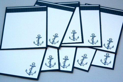 Note card anchor set