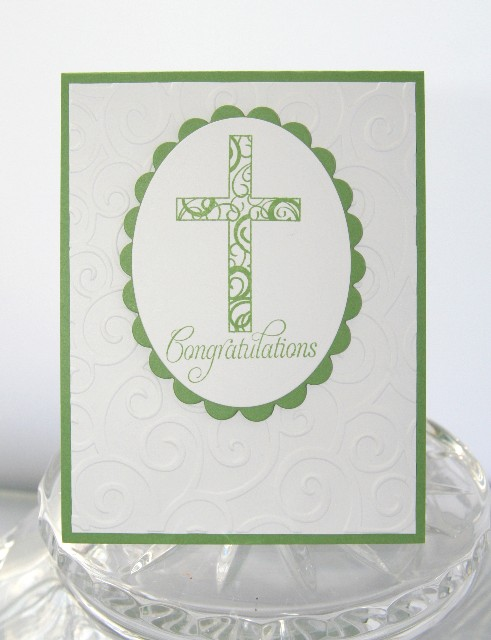 Cross congrats green