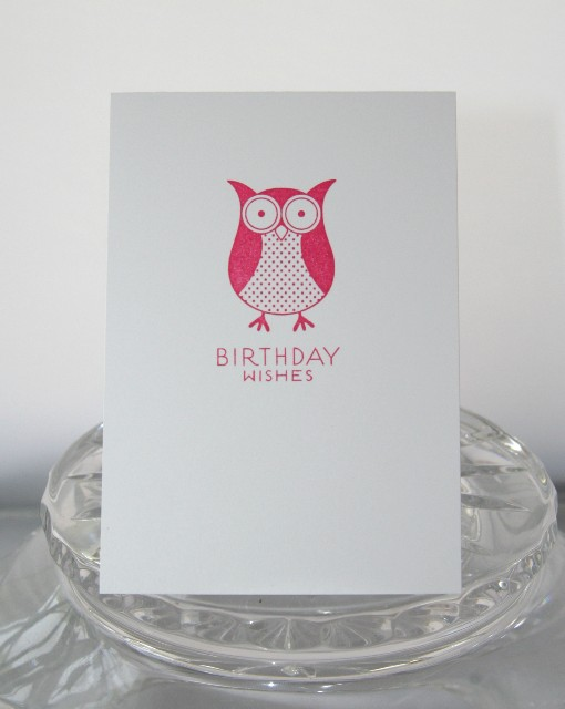 A1 owl pink bday