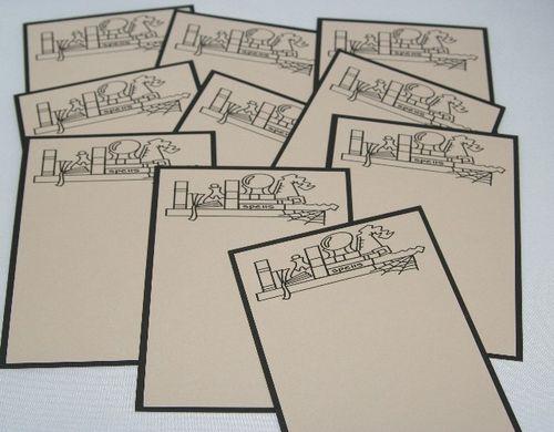 Note card magic set 1