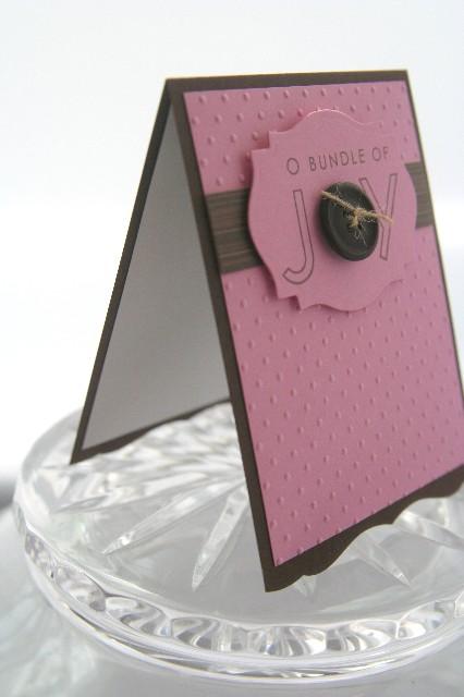 Baby bundle joy pink side