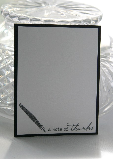 Notecard fountain pen