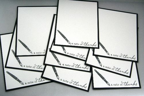 Notecard fountain pen set