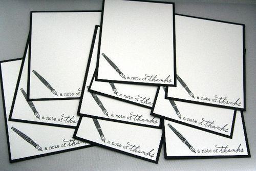 Notecard fountain pen set