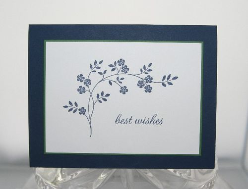 Best wishes blue flowers