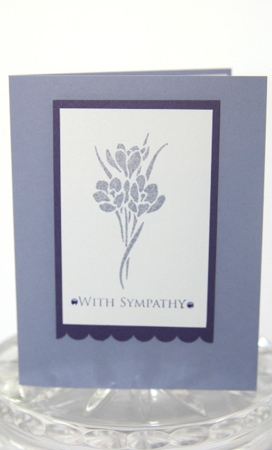Sympathy stencil flower purple