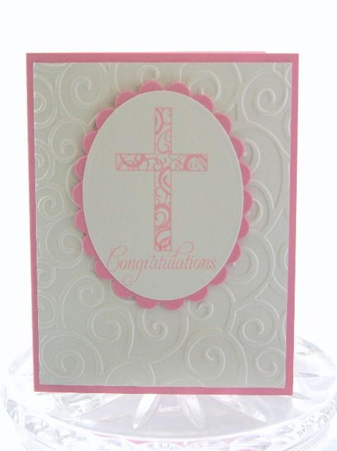 Cross pink congrats