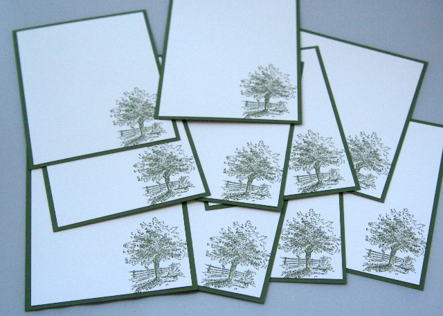 Note card tree set