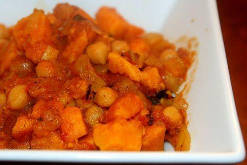 Recipe sweet potato and chick pea