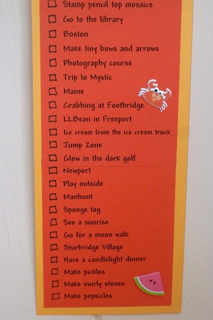 Summer list 5