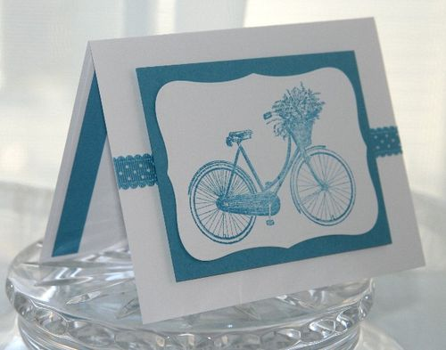 Bicycle blue side