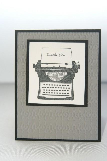 Typewriter thanks bw