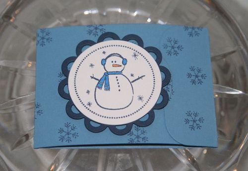 Gc holder snowman
