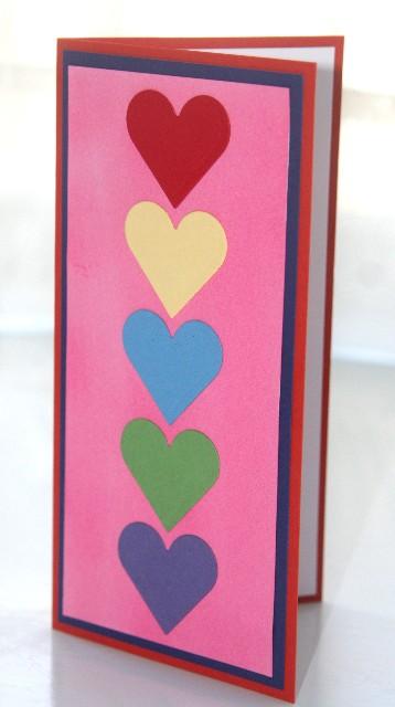 Hearts rainbow side