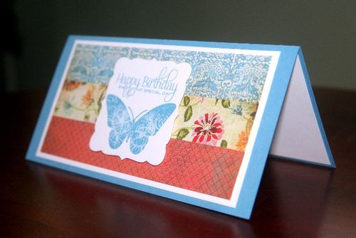 Butterfly bday paper side