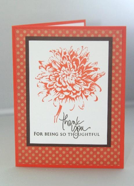 Tangerine flower thank you