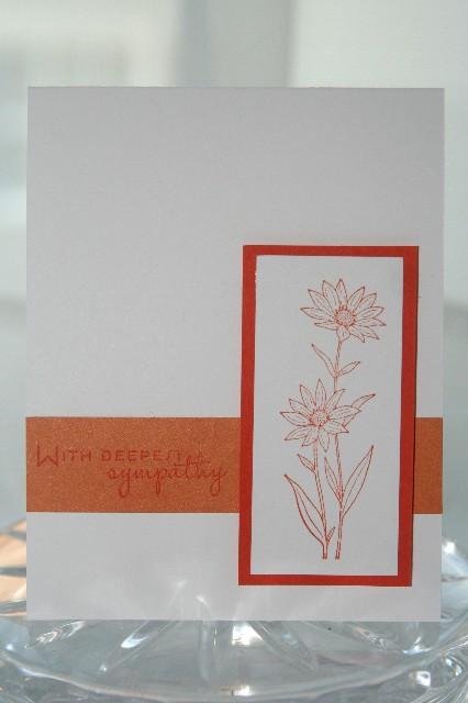 Sympathy orange flower