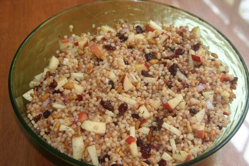 Couscous and apple