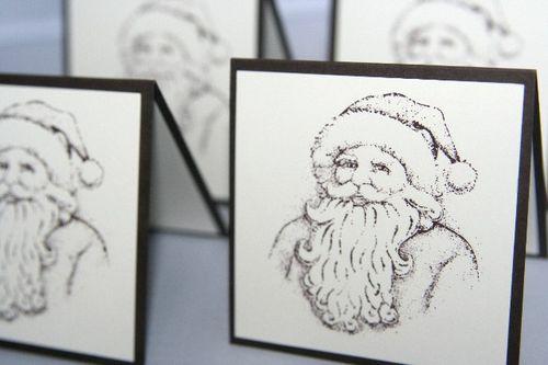 Santa brown set close