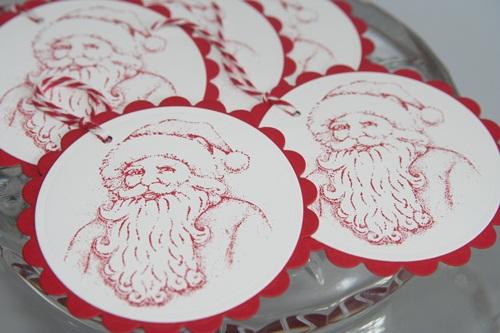 Santa tags set close