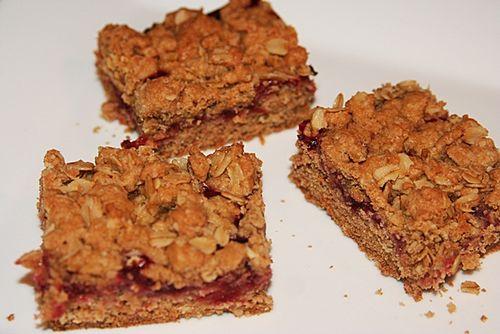 Recipe cranberry bars cut