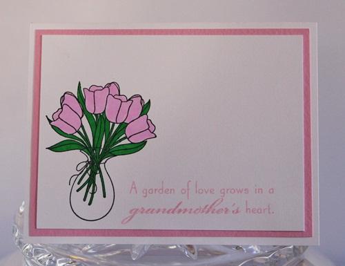 Grandmother tulips close