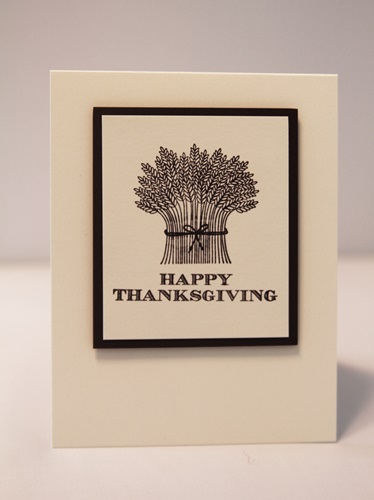 Thanksgiving wheat card
