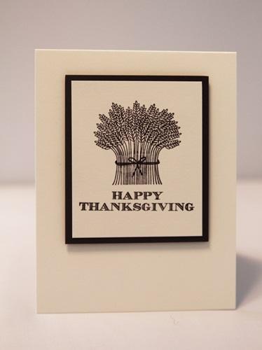 Thanksgiving wheat card