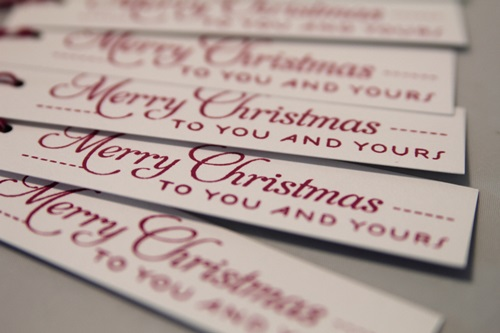 Christmas mini tags close
