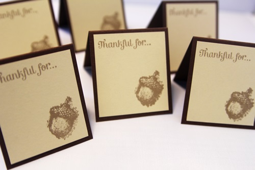 Place cards thankful close