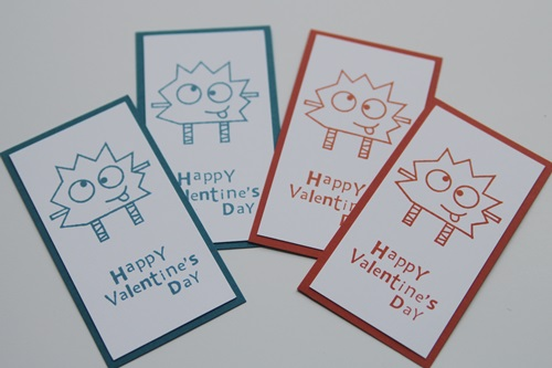 Googly monster valentine set